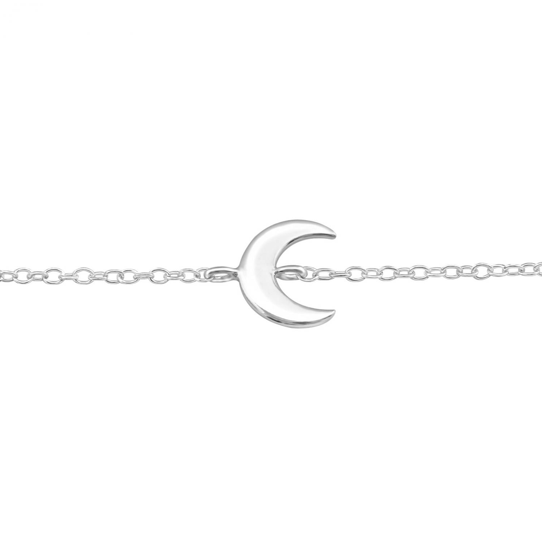 Armband - Äkta Silver - Måne