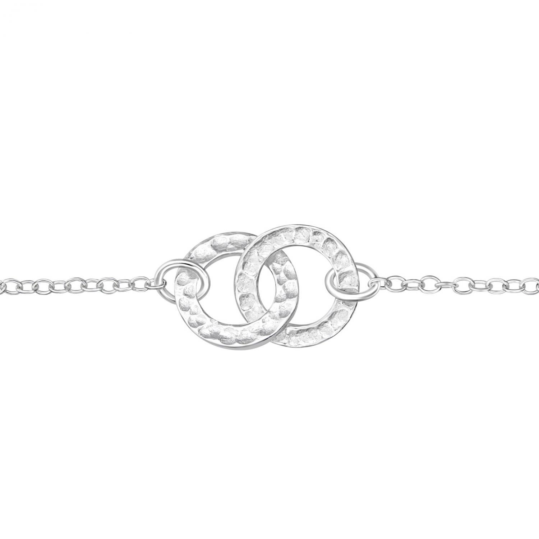Armband - Äkta Silver - två circlar