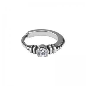 Clicker ring - Piercingsmycke - Vit kristall