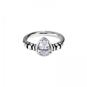 Clicker Ring - Teardrop kristall