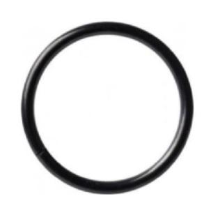 Tunn seamless ring - Black steel