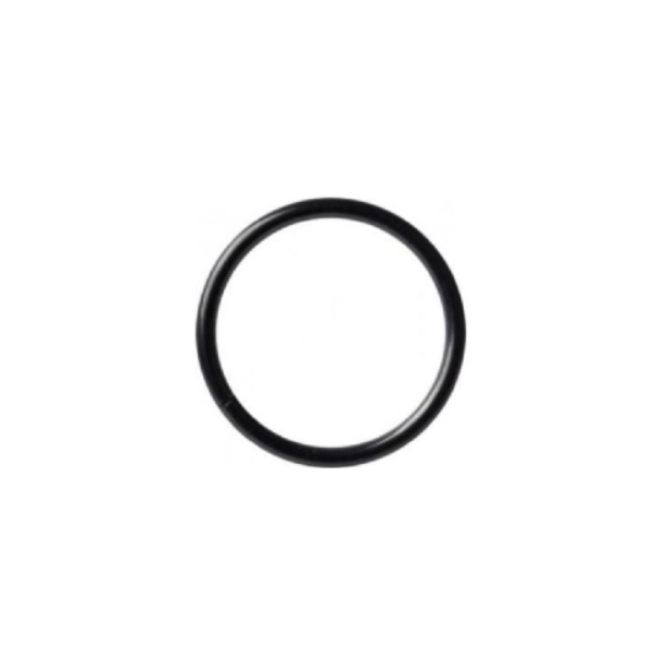 Tunn seamless ring - svart stål