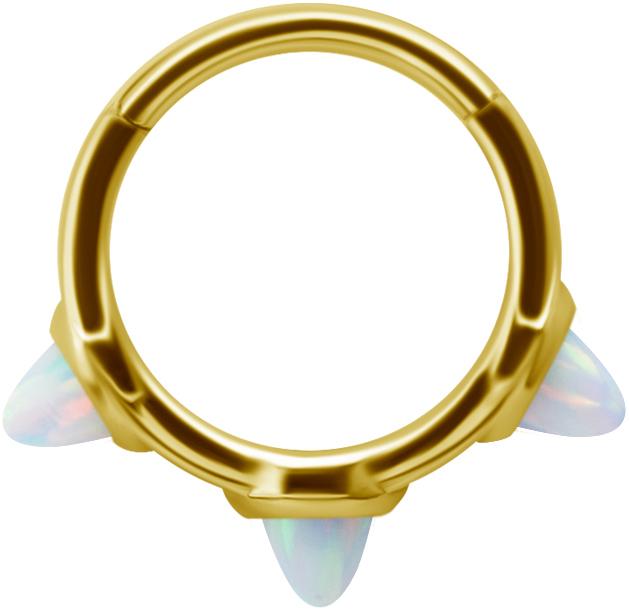 Golden Steel Clicker - Vit Opal