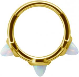 Golden Steel Clicker - Vit Opal
