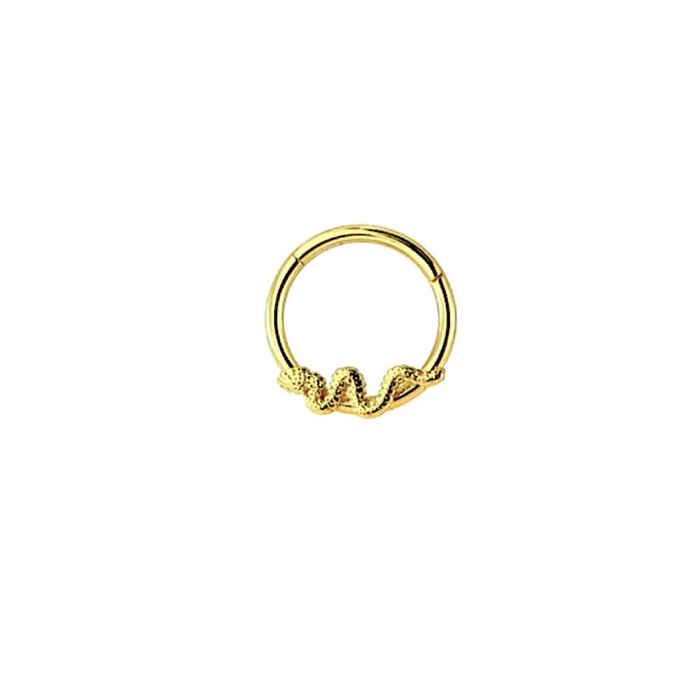 Piercingsmycke - Guldring - Orm
