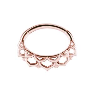 Septum / Daith Clicker Rose Golden Steel