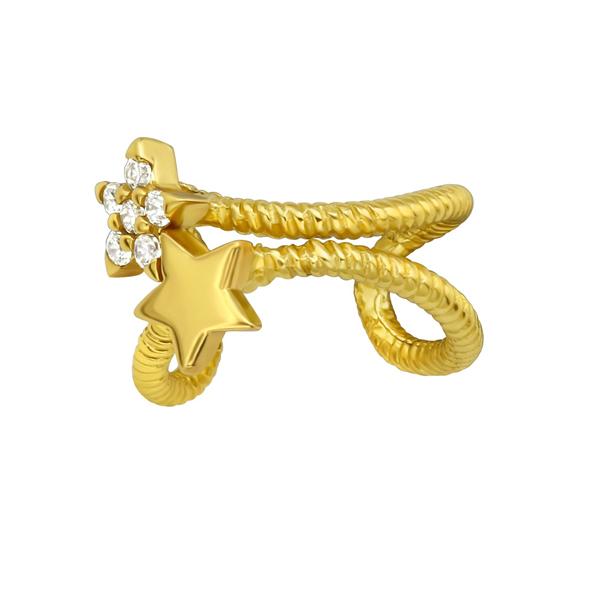 Ear cuff - Stjärnor - Guldpläterat silver
