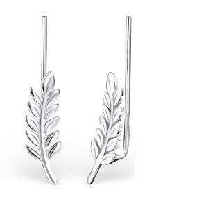 Ear Climbers - Örhängen i äkta silver - Löv
