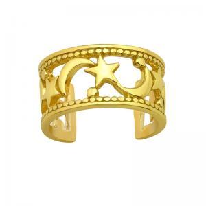 Ear cuff - Stjärna & Måne - Guldpläterat silver