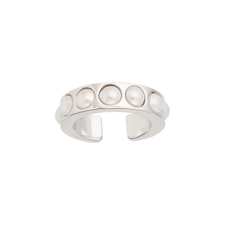 Ear cuff - Äkta silver - Ring med pärlor