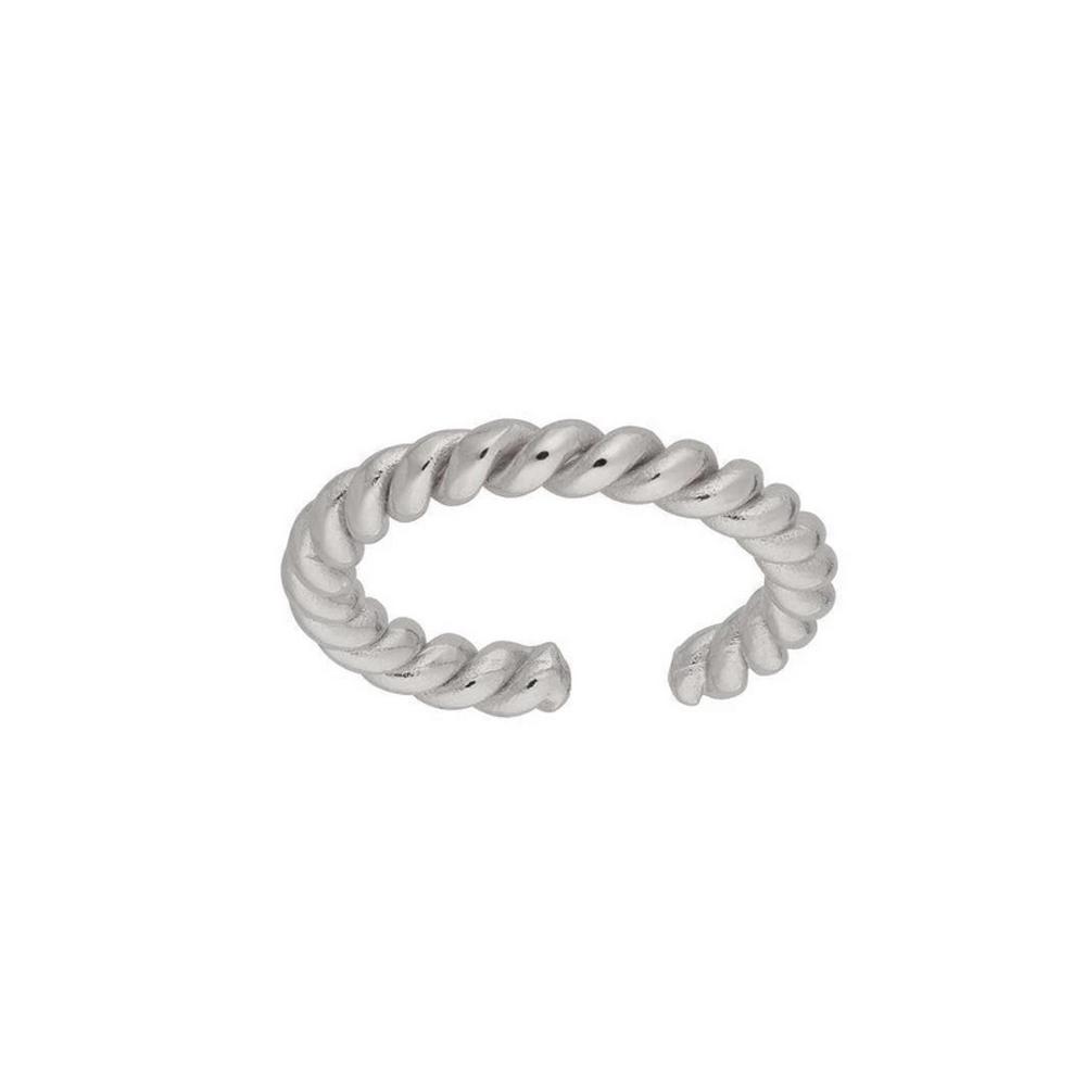 Ear cuff  - Äkta silver - Tvinnad silverring