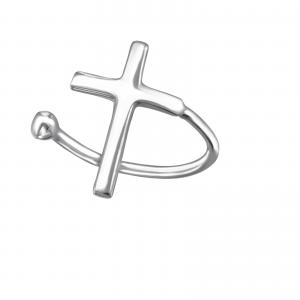 Ear cuff - Äkta silver - Kors