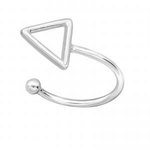 Ear cuff - Äkta silver - Trekant