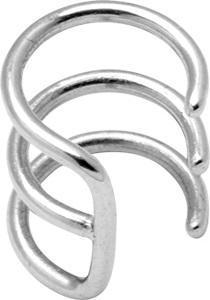 Ear cuff - Kirurgiskt Stål - tripplar ringar