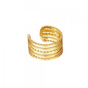 Ear cuff - 18k-guldpläterat kirurgiskt stål - Fem ringar