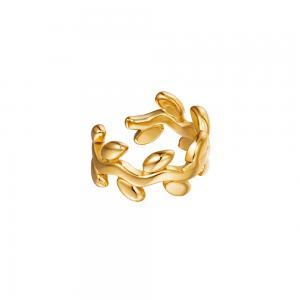 Ear cuff - 18k-guldpläterat kirurgiskt stål - Lagerkrans