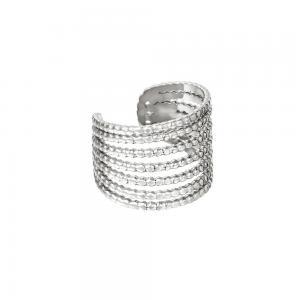 Ear cuff - Silvrigt kirurgiskt stål - Sju ringar
