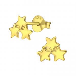 Örhängen Studs - Tre stjärnor