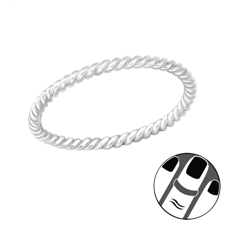 Midi Fingertoppsring - Tunn Silver Ring