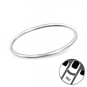 Midi Fingertoppsring - Enkel Silver Ring