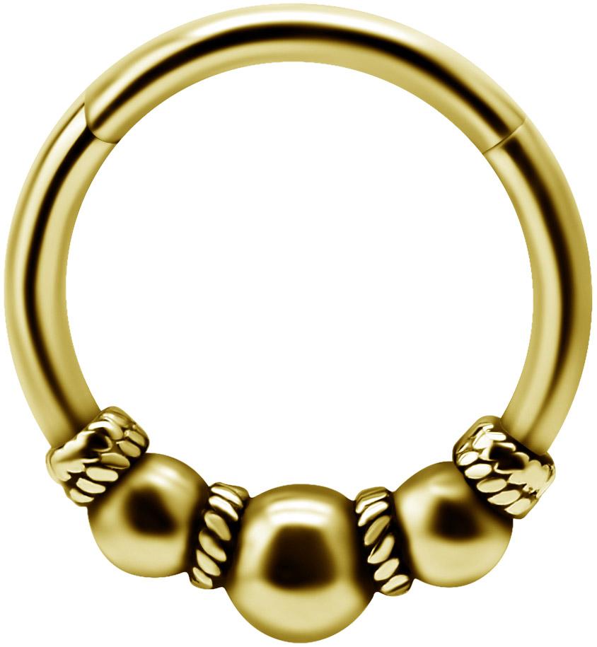 Guldig clicker ring - Piercingsmycke