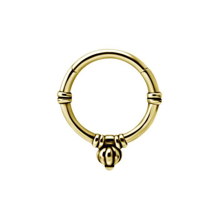 Guldig ring - Piercingsmycke