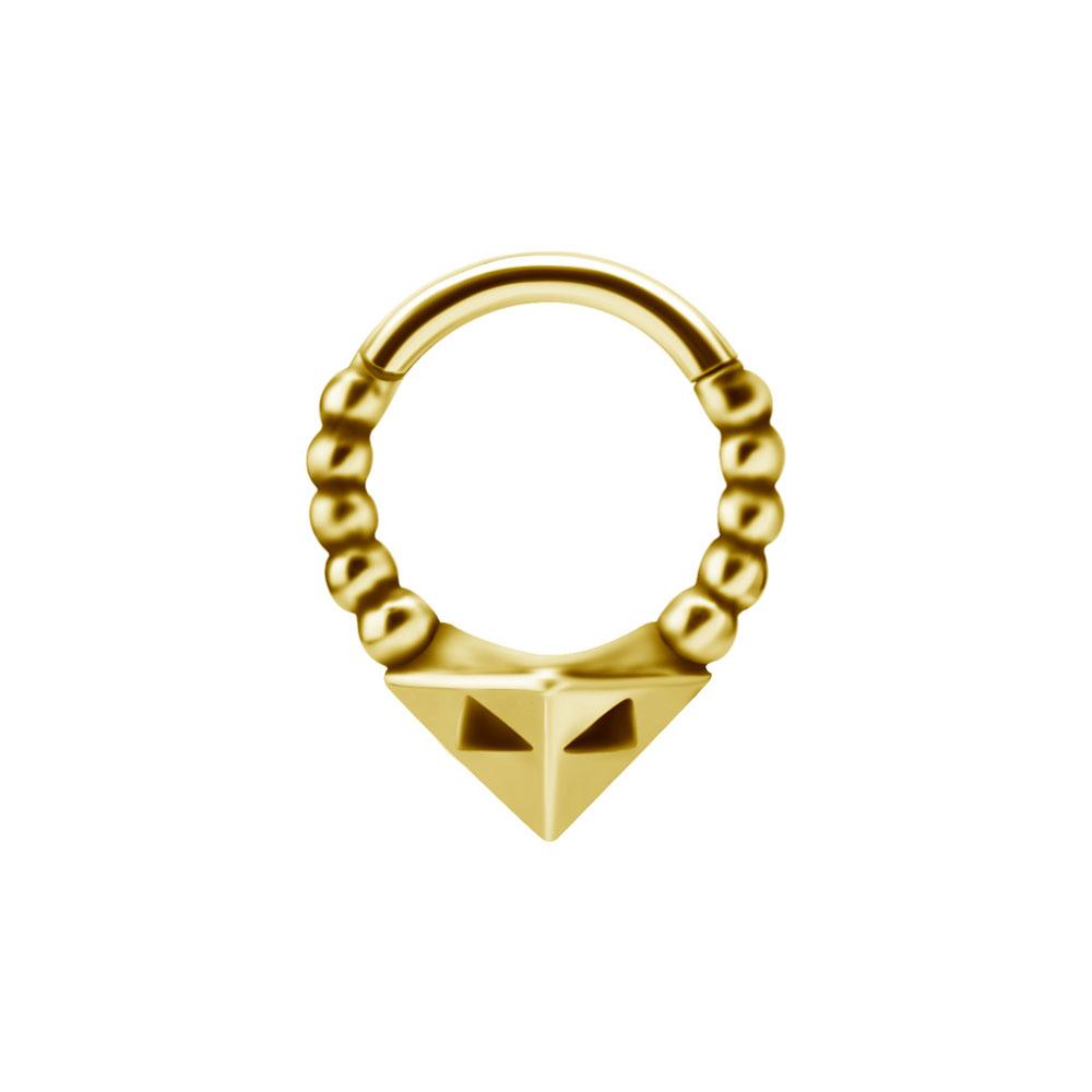 Piercingsmycke Ring - Guldpläterad ring till piercing