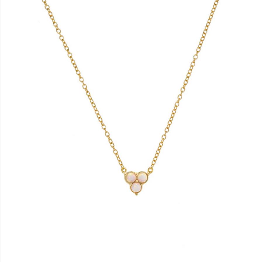 Guldhalsband - Vita opaliter - Trinity