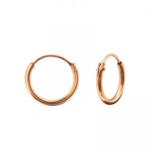 Rosé Ringar Hoops - Roséguldpläterat silver - 10 mm