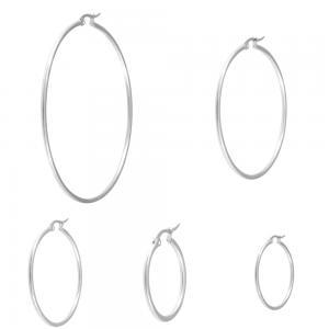 Stora Hoops-Ringar - Örhängen i kirurgiskt stål
