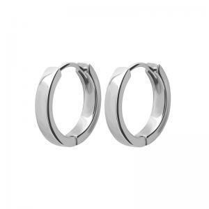 Huggieörhängen - Släta silverringar i kirurgiskt stål