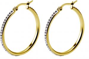 Kristall Creoler - Hoops -  Ringar i kirurgiskt stål