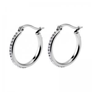 Kristall Creoler - Hoops - 20 mm -  Ringar i kirurgiskt stål