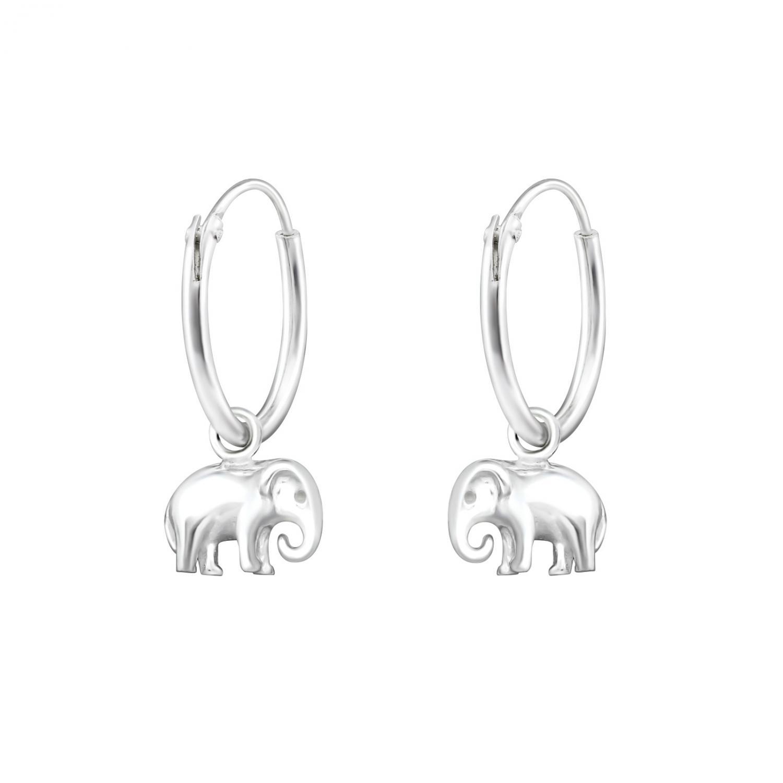 Hoops 10 mm i äkta silver - Elephant