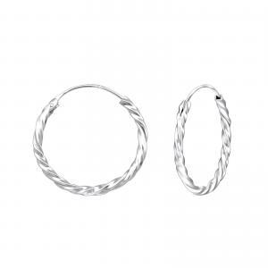 Silverörhängen - Hoops - 22 mm