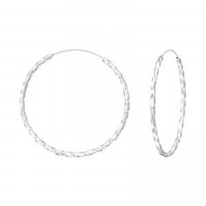 Silverörhängen - Hoops - 33 mm