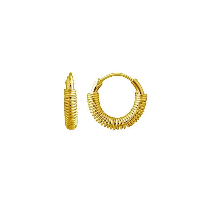 Guldringar - Hoops-örhängen i guldpläterat äkta silver