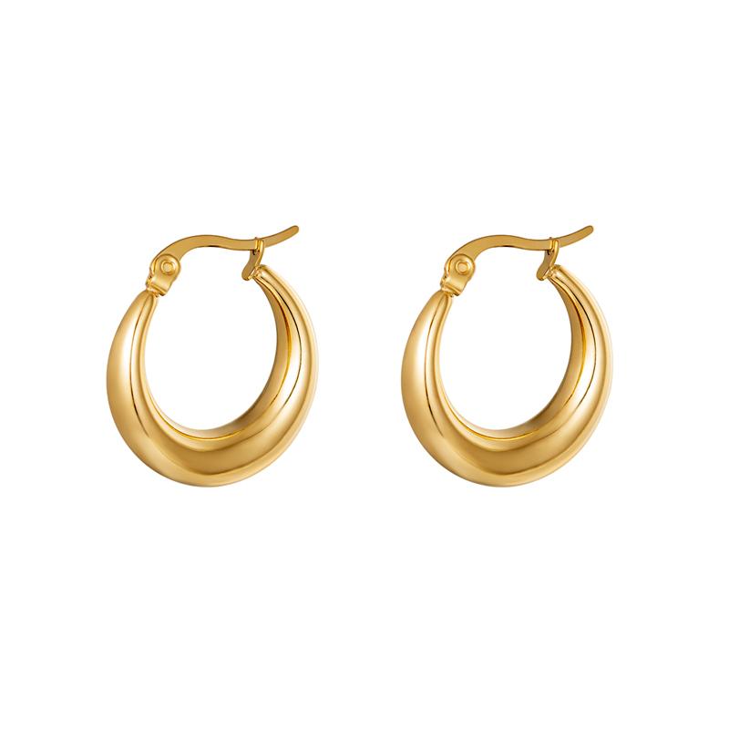 Stora hoops - Creoler örhängen - Guld