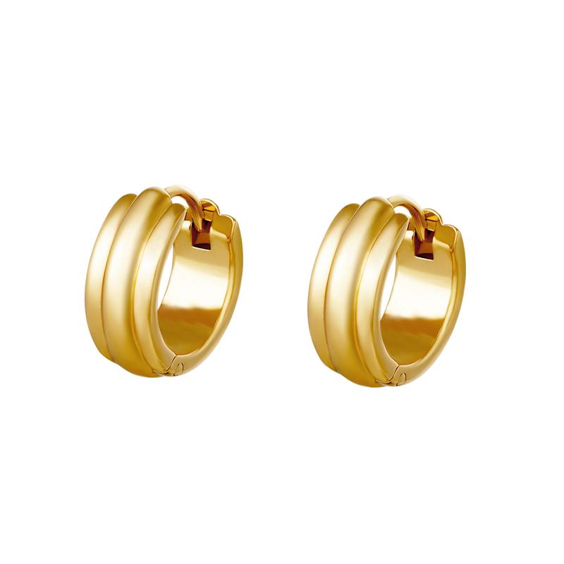 Huggie örhängen - Creoler i kirurgiskt stål - Guld