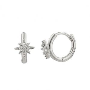 Huggie hoops - Silverörhängen - Ringar med stjärna