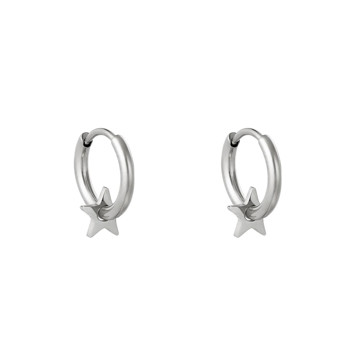 Huggie örhängen - Creoler i kirurgiskt stål - Stjärnor