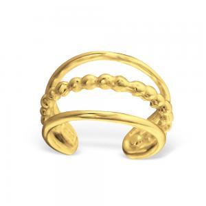 Ear cuff - Guldpläterat äkta silver