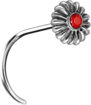 Smycke till näsa, Flower, Röd