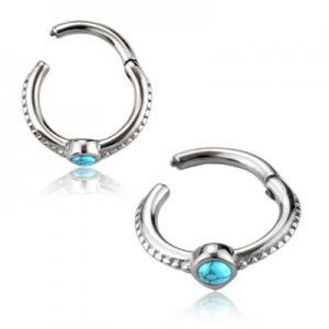 Clicker Ring till Piercing - Kirurgiskt Stål - Turkos
