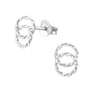 Silverörhängen - Twin Circle