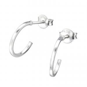 Silverörhängen - Half Hoop