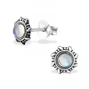 Silverörhängen - Mandala