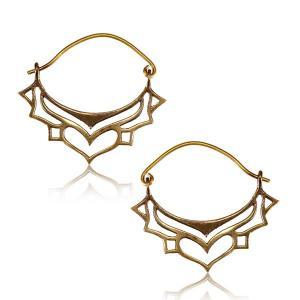 Örhängen i Mässing, Geometric Mandala Hoop