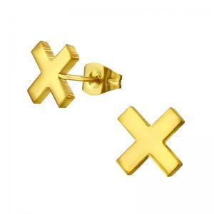 Örhängen - kors - Guldpläterat Kirurgiskt stål