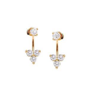 Örhängen Studs - Ear Jackets med kristaller